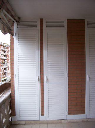 Armadio in muratura con sportelli in alluminio per terrazzo a Roma ...