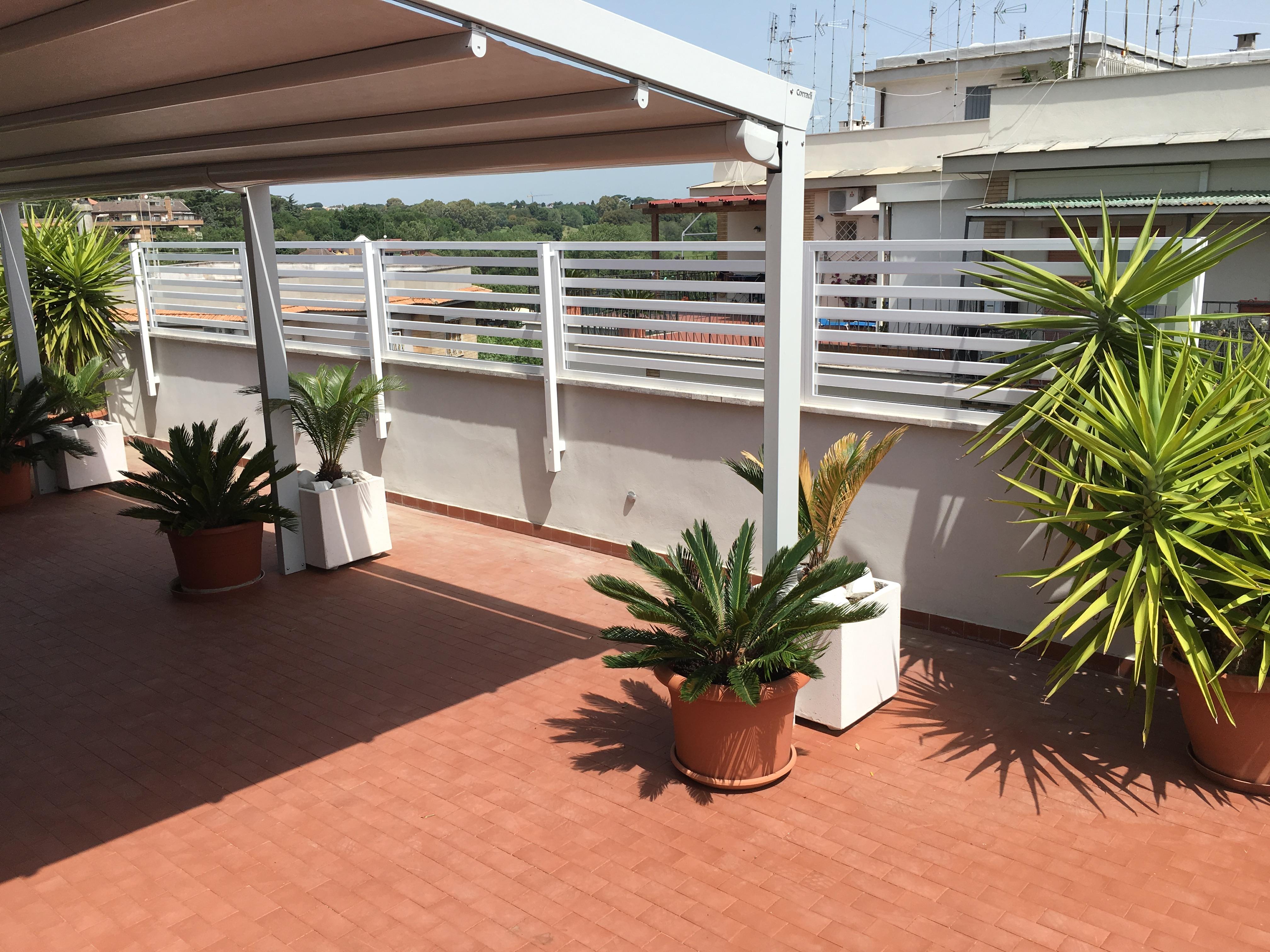 Grigliati e frangisole in alluminio alfa - Barriere antirumore per terrazzi ...