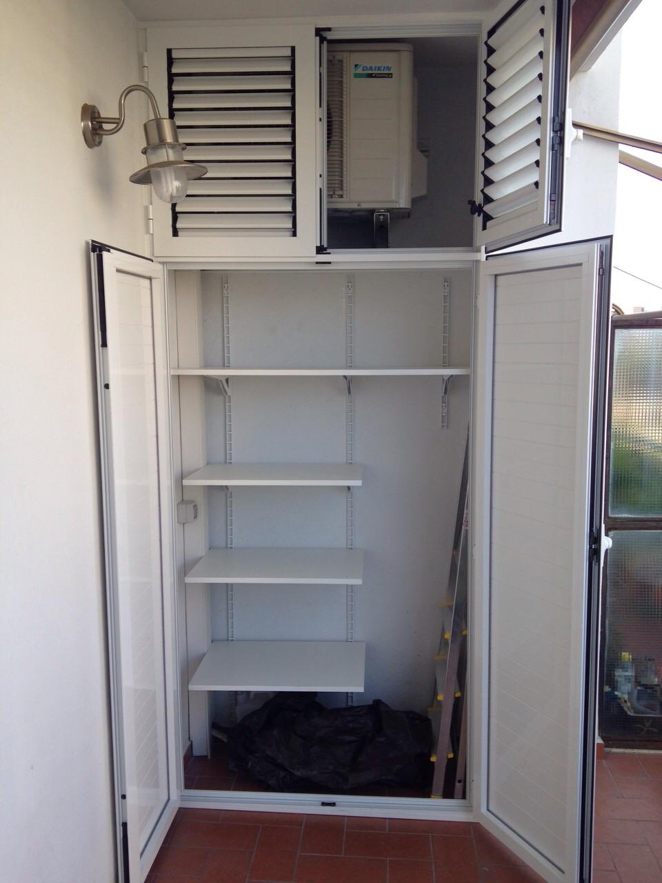 Mobili coprimotore esterno dei condizionatori alfa for Armadi da esterno in alluminio