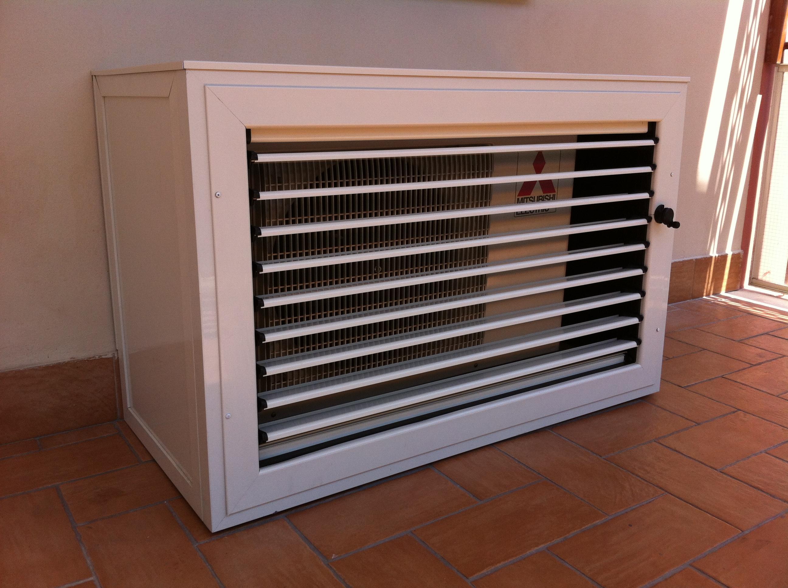 Mobili coprimotore esterno dei condizionatori alfa for Copri muro esterno prezzi
